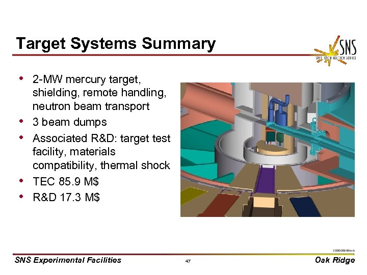 Target Systems Summary • 2 -MW mercury target, • • shielding, remote handling, neutron