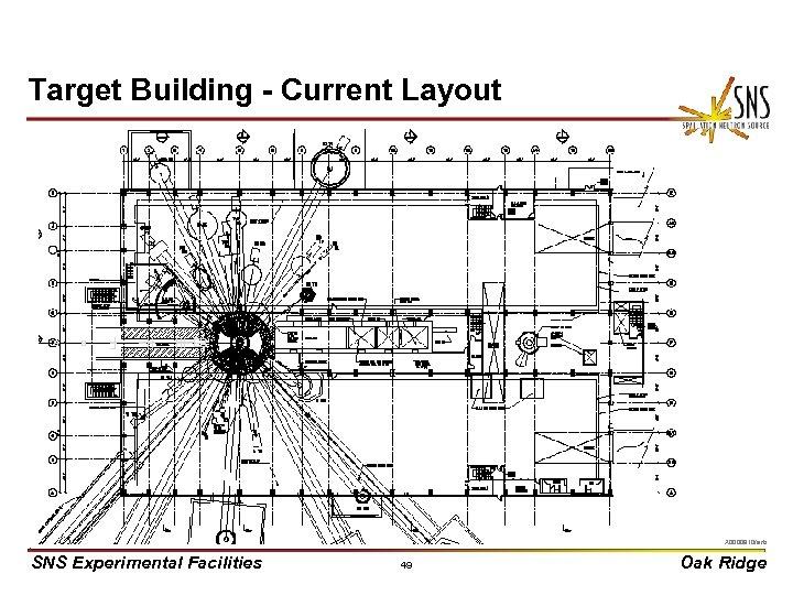 Target Building - Current Layout X 0000910/arb SNS Experimental Facilities 49 Oak Ridge