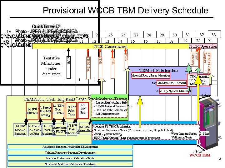 Provisional WCCB TBM Delivery Schedule JA 18 PY AD 06 19 07 20 08
