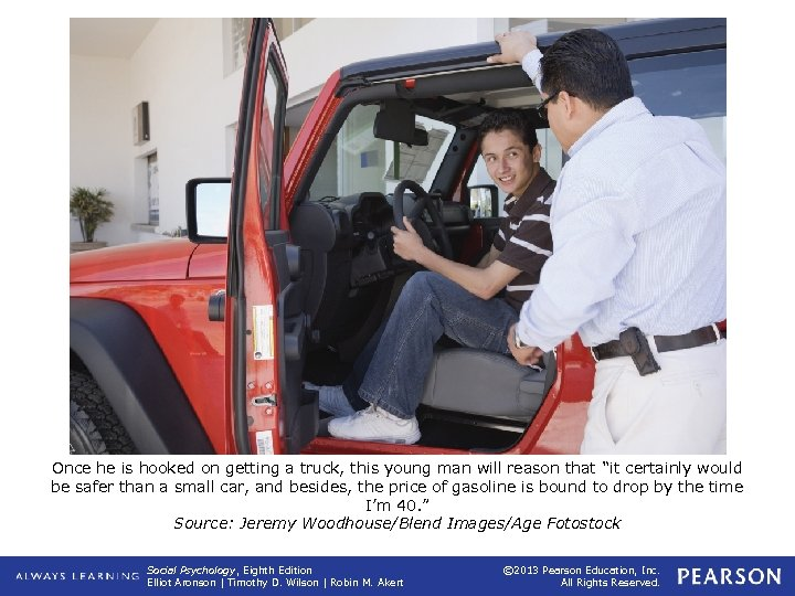 Once he is hooked on getting a truck, this young man will reason that