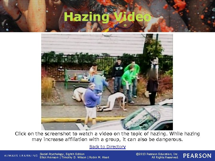 Hazing Video Click on the screenshot to watch a video on the topic of
