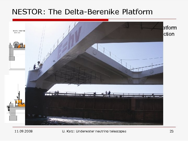 NESTOR: The Delta-Berenike Platform § A dedicated deployment platform § In the final stage