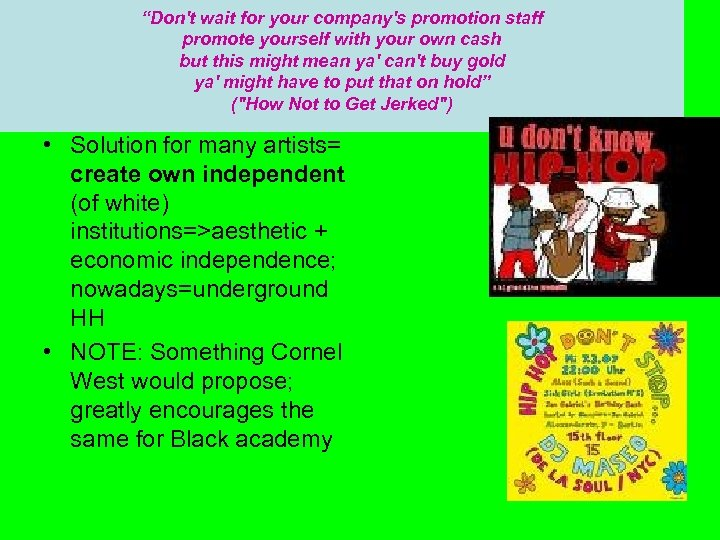 """""""Don't wait for your company's promotion staff promote yourself with your own cash but"""