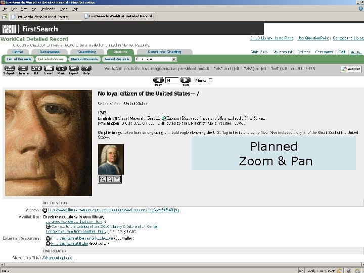 OCLC Online Computer Library Center Planned Zoom & Pan