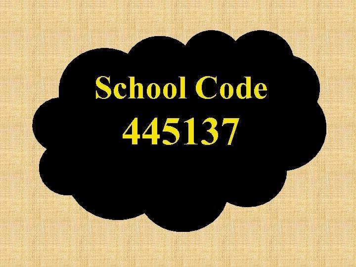 School Code 445137