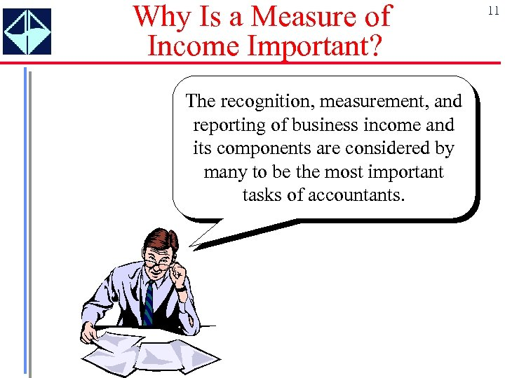 Why Is a Measure of Income Important? The recognition, measurement, and reporting of business