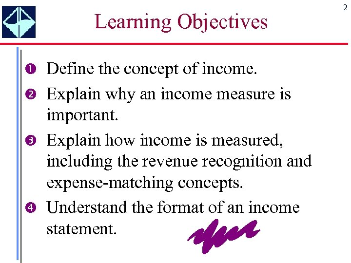 Learning Objectives Define the concept of income. Explain why an income measure is important.