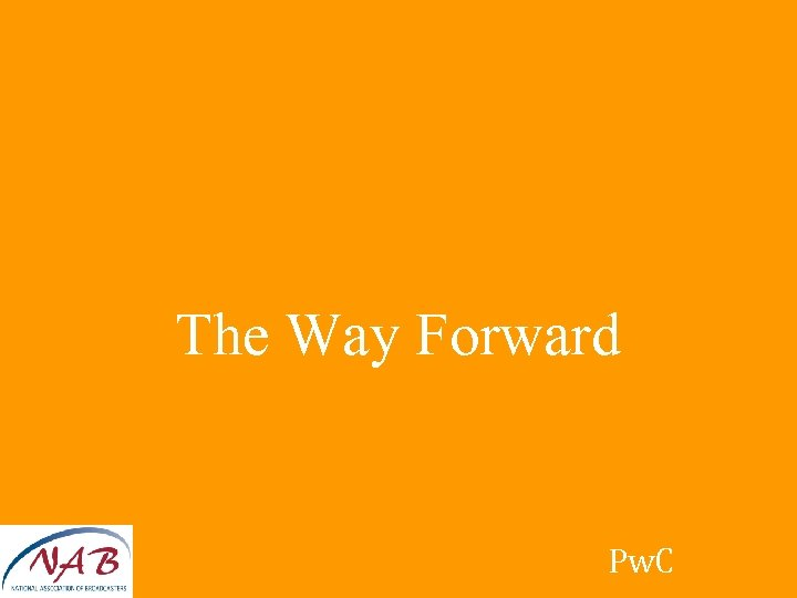 The Way Forward Pw. C