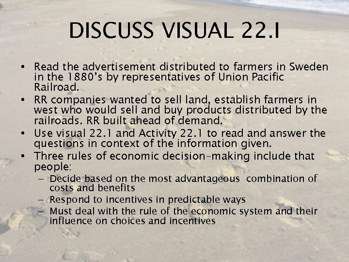 DISCUSS VISUAL 22. I • Read the advertisement distributed to farmers in Sweden in