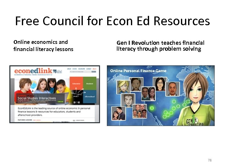Free Council for Econ Ed Resources Online economics and financial literacy lessons Gen I