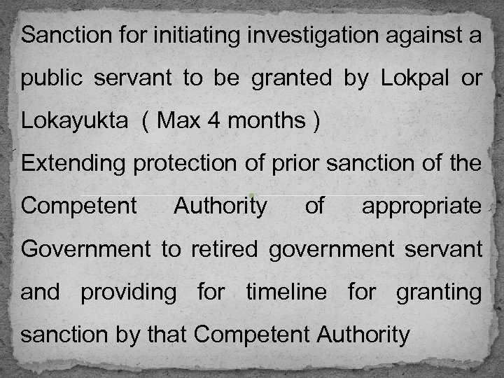 Sanction for initiating investigation against a public servant to be granted by Lokpal or