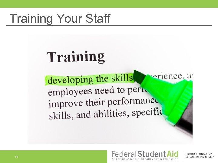 Training Your Staff 15