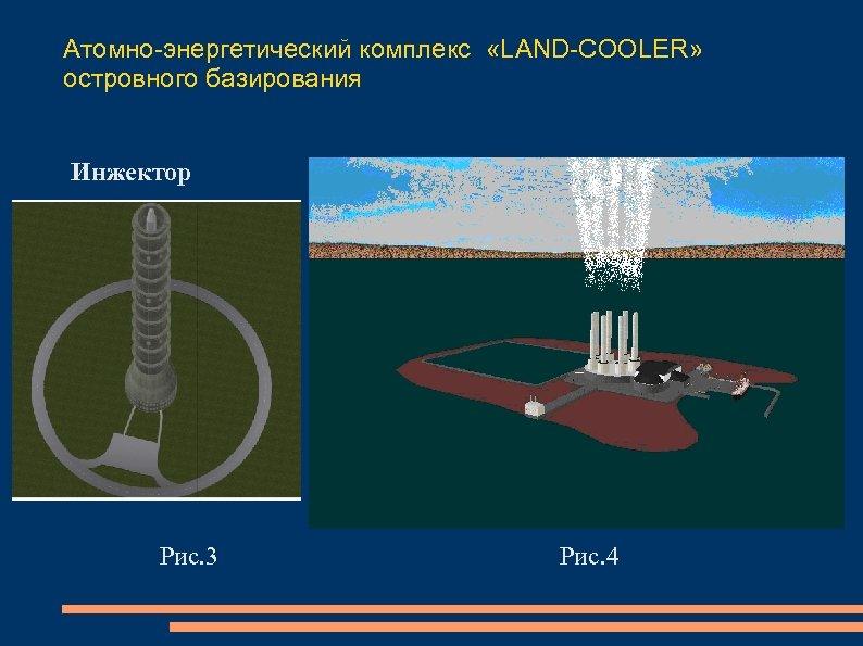 Атомно-энергетический комплекс «LAND-COOLER» островного базирования Инжектор Рис. 3 Рис. 4