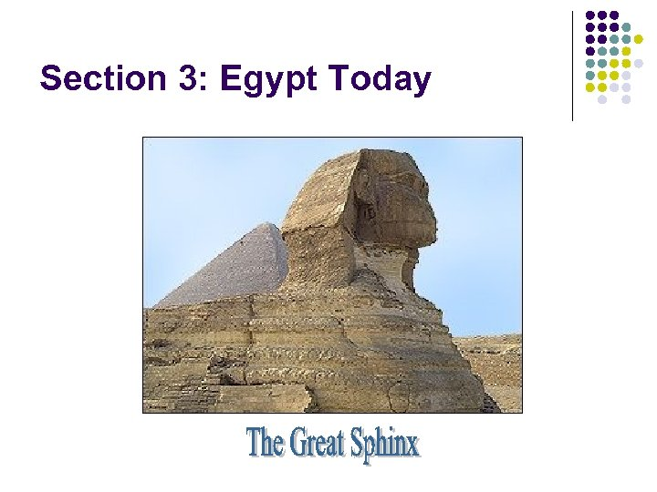 Section 3: Egypt Today