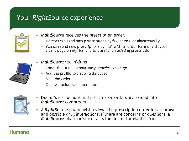 Your Right. Source experience § Right. Source receives the prescription order. Doctors can send