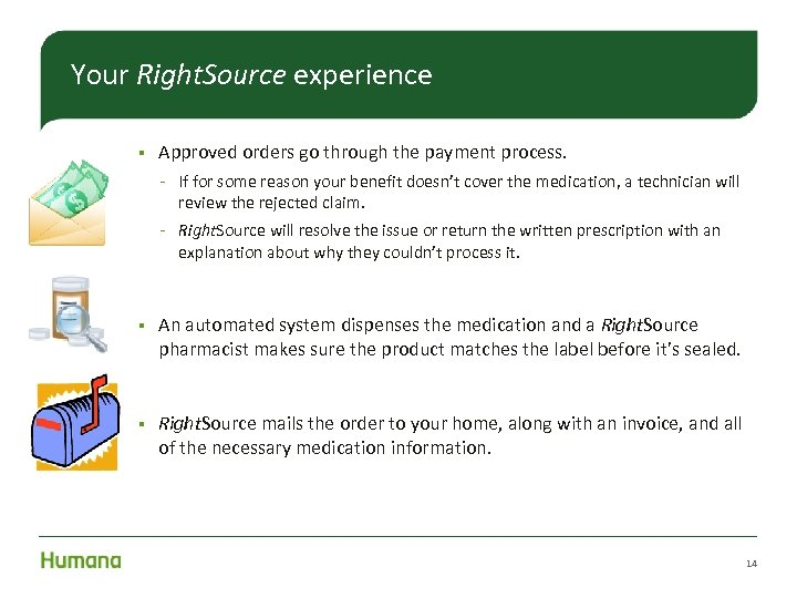 Your Right. Source experience § Approved orders go through the payment process. – If