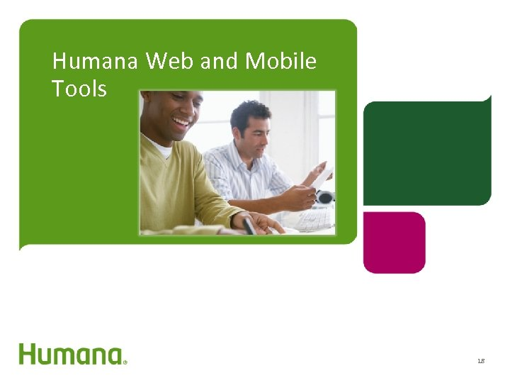 Humana Web and Mobile Tools 18