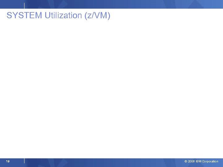 SYSTEM Utilization (z/VM) 19 © 2008 IBM Corporation