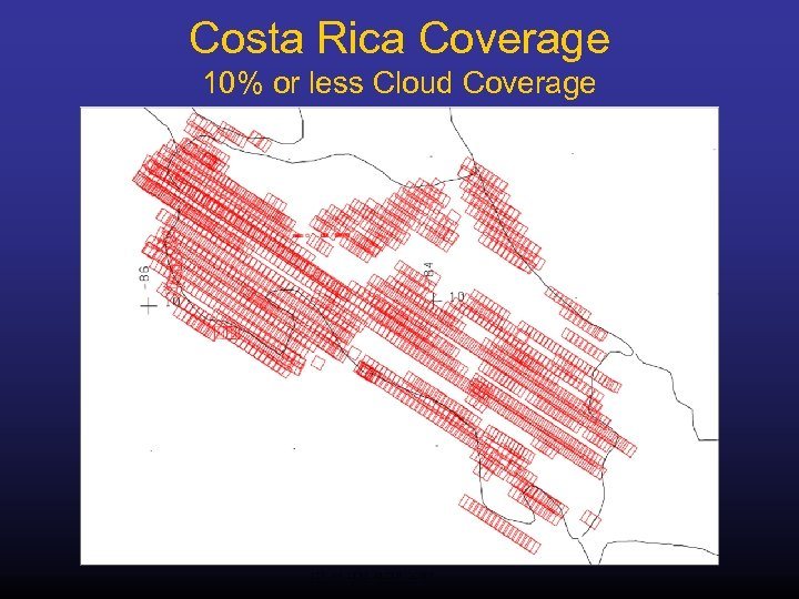 Costa Rica Coverage 10% or less Cloud Coverage