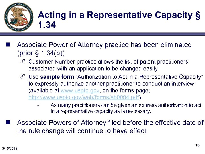 Acting in a Representative Capacity § 1. 34 n Associate Power of Attorney practice