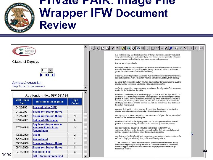Private PAIR: Image File Wrapper IFW Document Review 3/19/2018 23