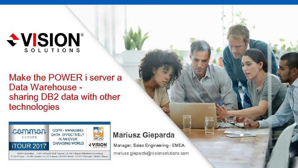 Make the POWER i server a Data Warehouse sharing DB 2 data with other