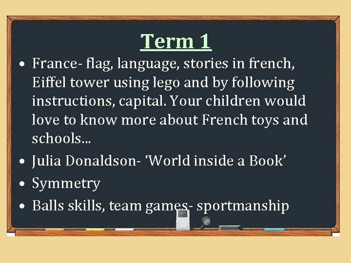 Term 1 • France- flag, language, stories in french, Eiffel tower using lego and