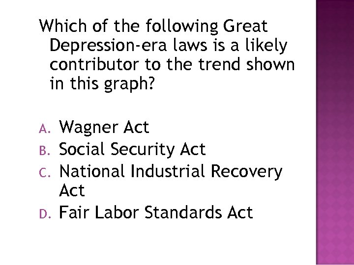 Which of the following Great Depression-era laws is a likely contributor to the trend