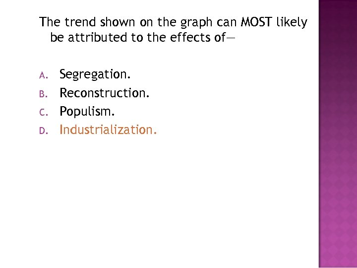 The trend shown on the graph can MOST likely be attributed to the effects