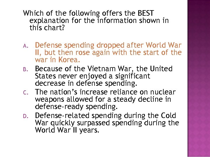 Which of the following offers the BEST explanation for the information shown in this