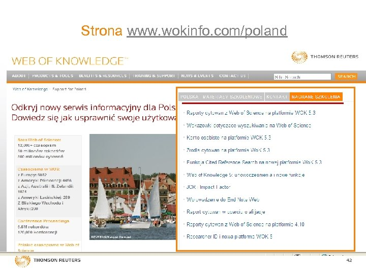 Strona www. wokinfo. com/poland Confidential - Thomson Reuters - Do Not Distribute 42