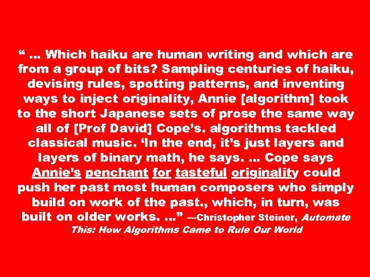 """ … Which haiku are human writing and which are from a group of"
