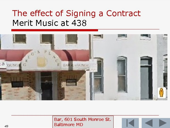The effect of Signing a Contract Merit Music at 438 49 Bar, 601 South