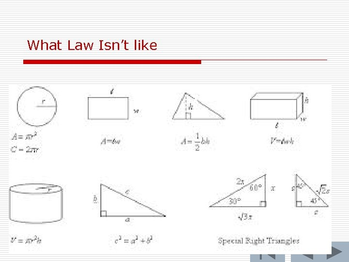 What Law Isn't like 70
