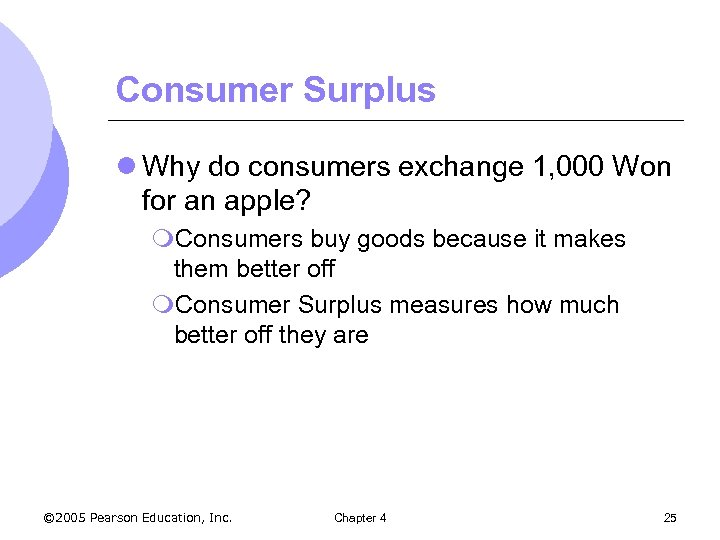 Consumer Surplus l Why do consumers exchange 1, 000 Won for an apple? m.