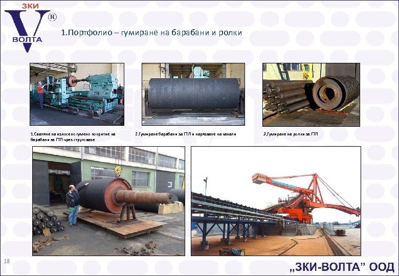 1. Портфолио – гумиране на барабани и ролки 1. Сваляне на износено гумено покритие