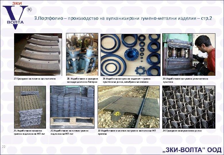3. Портфолио – производство на вулканизирани гумено-метални изделия – стр. 2 27. Гумиране на