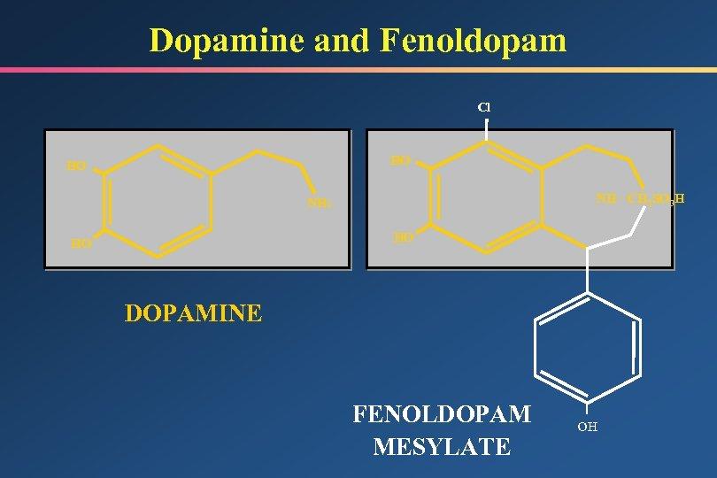 Dopamine and Fenoldopam Cl HO HO NH · CH 3 SO 3 H NH