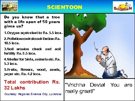 SCIENTOON Do you know that a tree with a life span of 50 years