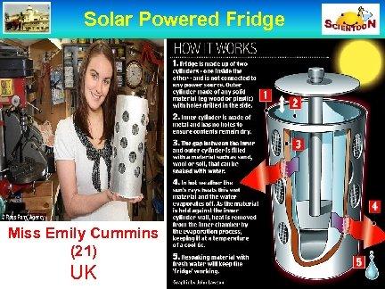 Solar Powered Fridge Miss Emily Cummins (21) UK