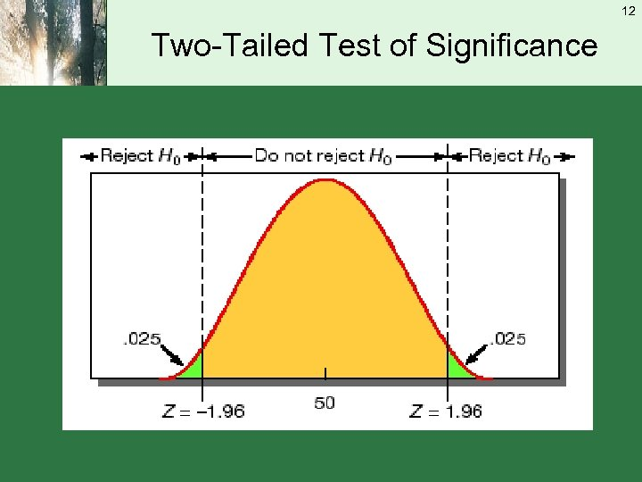 12 Two-Tailed Test of Significance
