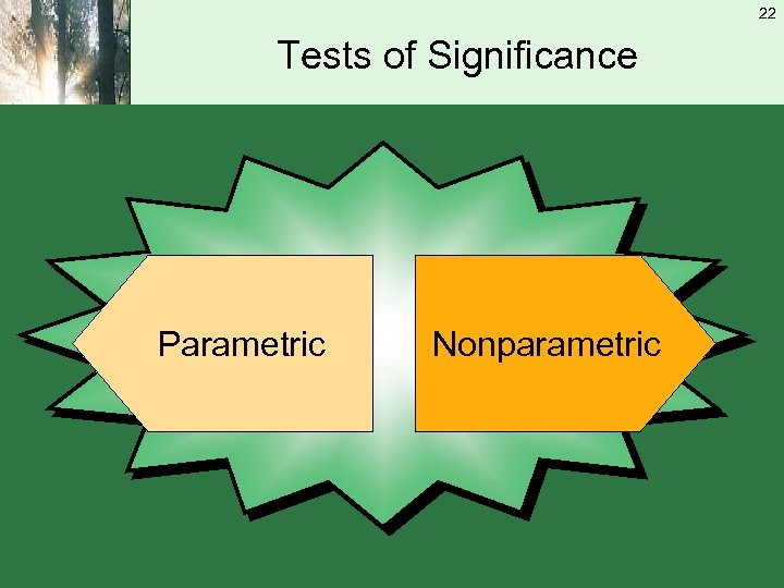 22 Tests of Significance Parametric Nonparametric