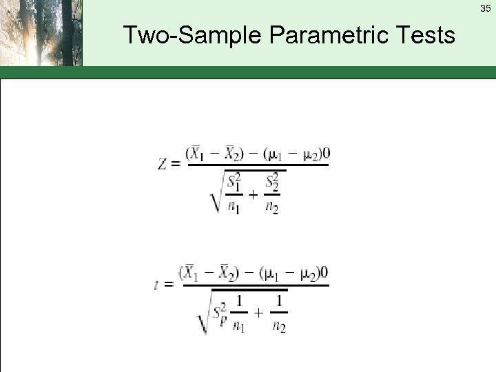 35 Two-Sample Parametric Tests