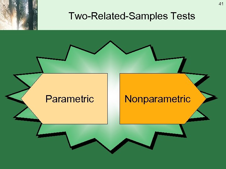 41 Two-Related-Samples Tests Parametric Nonparametric