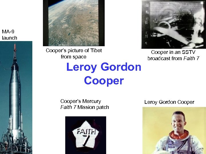 MA-9 launch Cooper's picture of Tibet from space Leroy Gordon Cooper's Mercury Faith 7