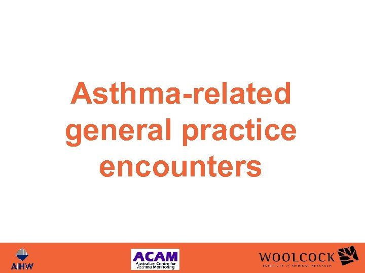 Asthma-related general practice encounters