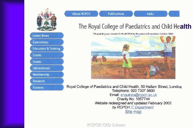 alth n RCPCH CPD Scheme
