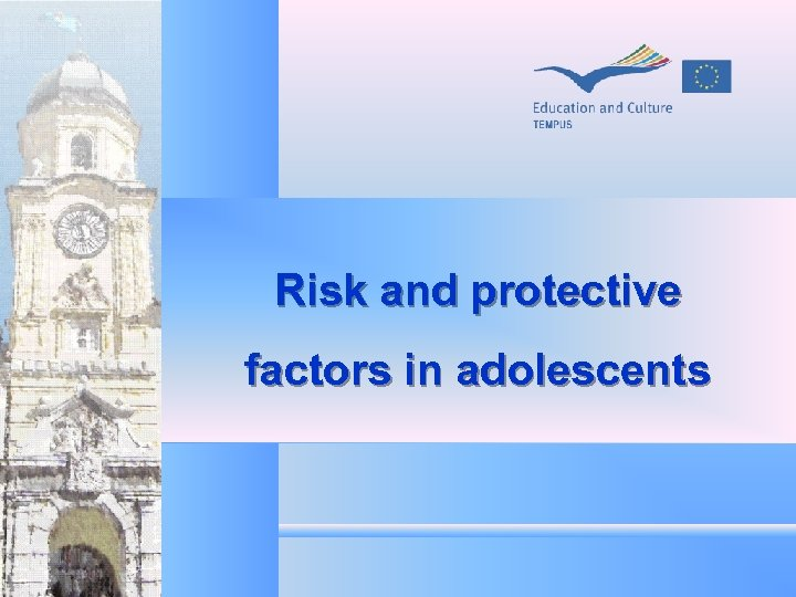 Risk and protective factors in adolescents