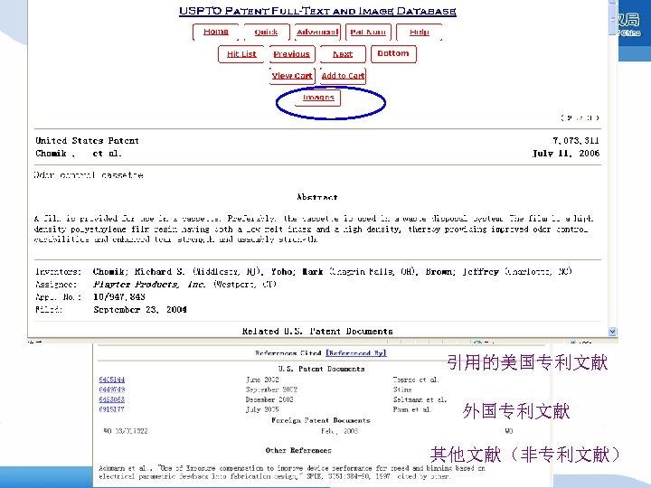 引用的美国专利文献 外国专利文献 其他文献(非专利文献)