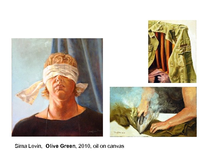 Sima Levin, Olive Green, 2010, oil on canvas